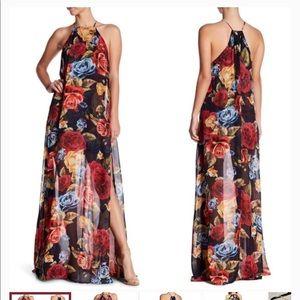 Show me your mumu bronte slit maxi dress